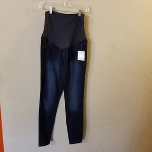 A:Glow Maternity New Blue Jean Jeggings NWT Size 6